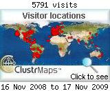 Mapa de visites del 16/11/2008 fins als 17/11/2009
