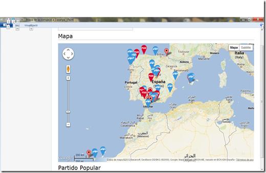 Mapa de la corrupció a Espanya